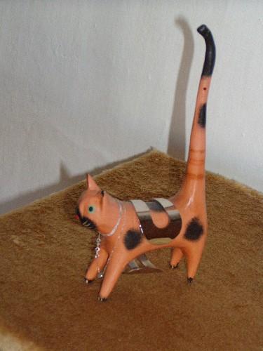 Název: Kočka dlouhoocasá dřevěná / Vystavovatel: Irca